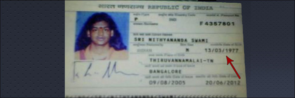 Nithyananda: Born on January 1, 1978 or March 13, 1977?